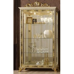 Шкаф-витрина двухдверная Катя (беж)