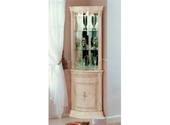 Угловой шкаф-витрина Роза (беж)
