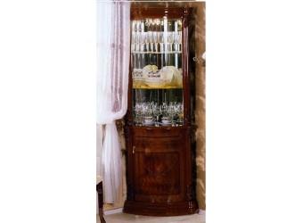 Угловой шкаф-витрина Роза (могано)