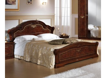 Двуспальная кровать Ирина (орех)