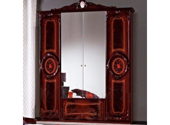 Четырехстворчатый шкаф для одежды Роза (могано)