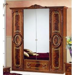 Четырехстворчатый шкаф для одежды Роза (орех)