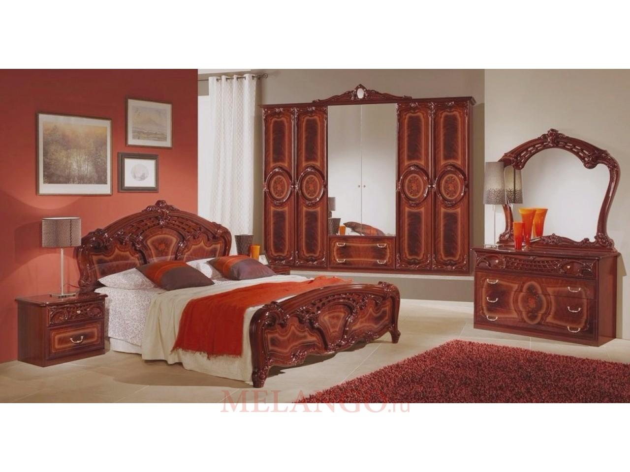 """Купить спальню """"роза"""" могано с 6-ти дверным шкафом от мебель."""