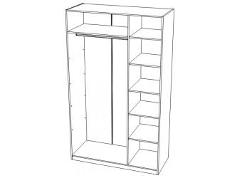 Шкаф трехстворчатый с зеркалом Римини 111.630з1