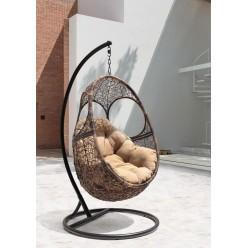 Подвесное кресло Solar Flying Rattan из искусственного ротанга сборно-разборное