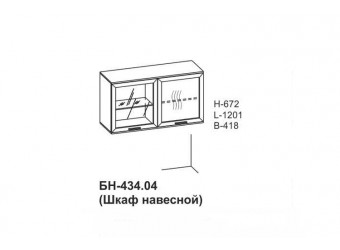 Настенный шкаф Бона БН-434.04