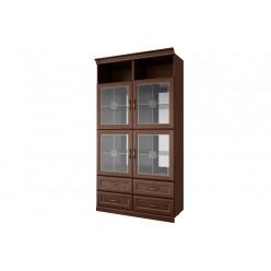 Двухстворчатый шкаф-витрина Луара ЛУ-295.06 с ящиками
