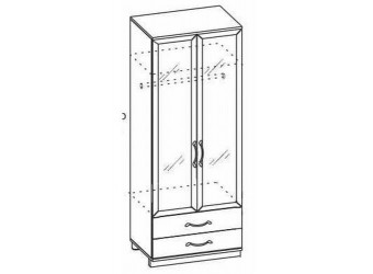Двухстворчатый шкаф Ниола НИ-200.04