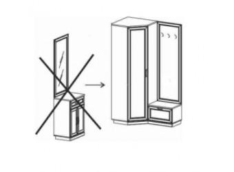 Шкаф для одежды угловой в прихожую Валенсия ВС-234.01