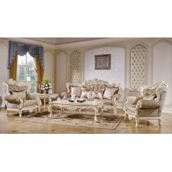 Комплект мягкой мебели для гостиной Магдалена КА-МД слоновая кость
