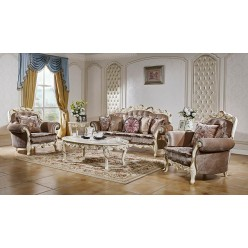 Комплект мягкой мебели для гостиной Венеция КА-МД слоновая кость