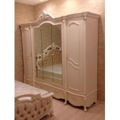 Пятистворчатый шкаф для одежды Лоренцо КА-ШК белый жемчуг