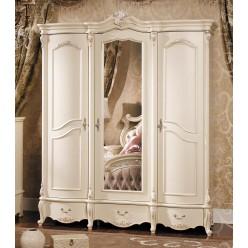 Трехстворчатый шкаф для одежды Лоренцо КА-ШК белый жемчуг