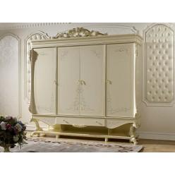 Четырехстворчатый шкаф для одежды Роял КА-ШК (слоновая кость)