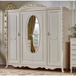 Четырехстворчатый шкаф для одежды Виттория КА-ШК жемчуг