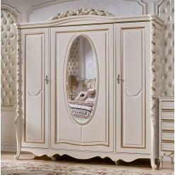 Четырехстворчатый шкаф для одежды Виттория КА-ШК золото