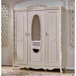 Трехстворчатый шкаф для одежды Виттория КА-ШК жемчуг