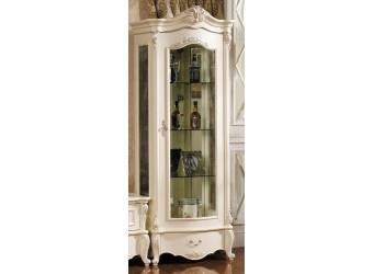 Шкаф-витрина для посуды Лоренцо КА-ШВ-П белая (правая)