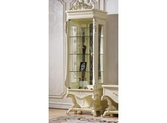 Шкаф-витрина для посуды Роял КА-ШВ-Л слоновая кость (левая)