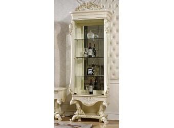 Шкаф-витрина для посуды Роял КА-ШВ-П слоновая кость (правая)
