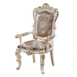 Обеденный стул для гостиной с подлокотниками София КА-СОП слоновая кость
