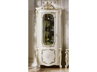 Шкаф-витрина для посуды София КА-ШВ-Л слоновая кость (левая)