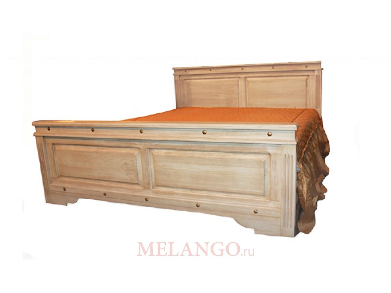 Двуспальная кровать  Викинг 01 (браширование)