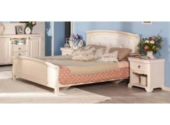 Кровать 1400 с мягкой спинкой (Без основания) Амели