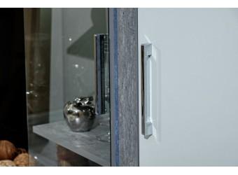 Шкаф-витрина правый Неон ЛД 667.070 Нельсон/Белый