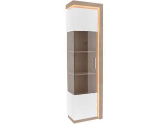 Шкаф-витрина левый Неон ЛД 667.050 Нельсон/Белый