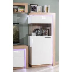 Шкаф-витрина левый Неон ЛД 667.080 Нельсон/Белый