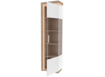 Шкаф-витрина правый Неон ЛД 667.040 Нельсон/Белый