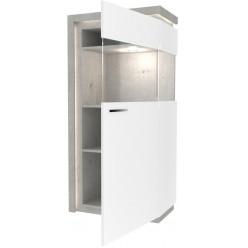 Шкаф-витрина правый Неон ЛД 667.070 Метрополитан/Белый