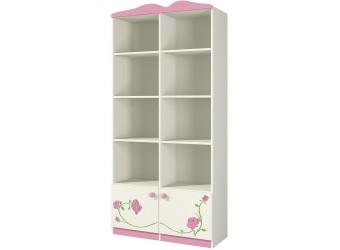 Модульная детская стенка для книг и игрушек с полками и ящиками Розалия