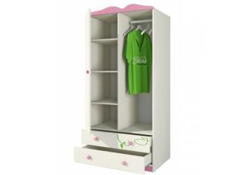 Двухстворчатый детский шкаф для одежды и белья с ящиками Розалия Ш90-2Д1