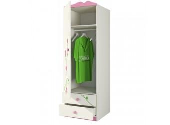Одностворчатый детский шкаф для одежды со штангой и ящиками Розалия Ш60-1ЛД1 левый