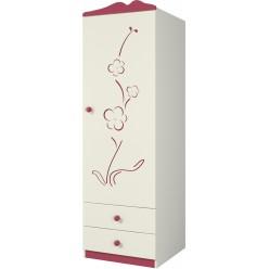 Детский шкаф для одежды Сакура правый Ш60-1ПД0 от Мебель-Неман