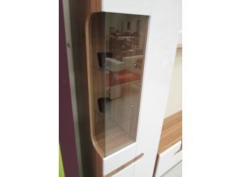 Двухстворчатый шкаф витрина для посуды в гостиную Леонардо МН-026-01 белый правый