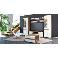 Модульная мебель для гостиной Леонардо белый полуглянец композиция 2