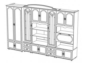 Стенка для гостиной Романтика ВК-09.1 от Мебель-Неман