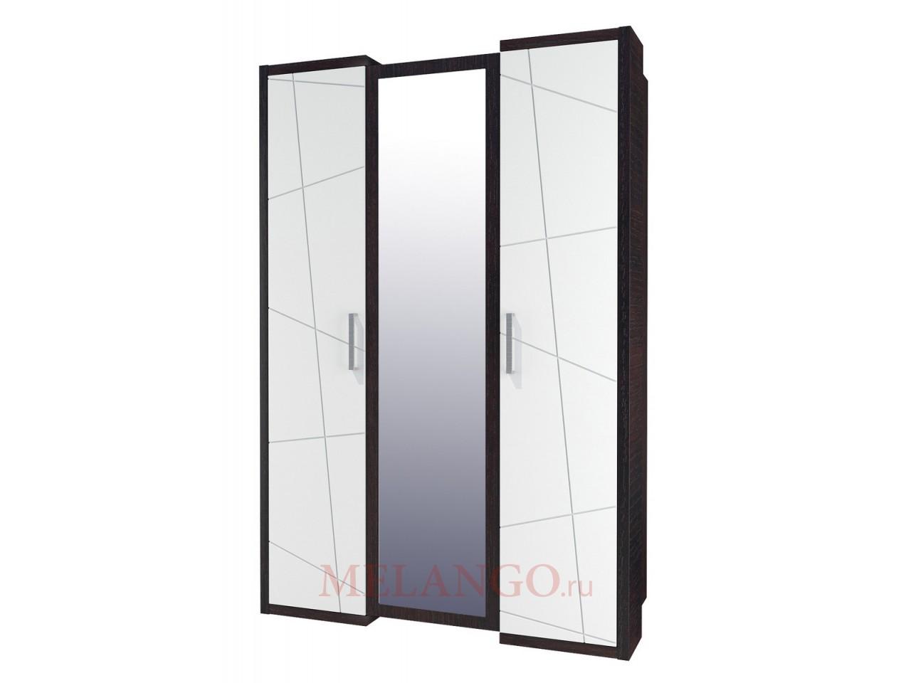Трехдверный шкаф гардероб для одежды с зеркалом Барселона МН-115-03-220