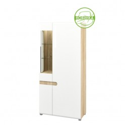 Двухстворчатый комбинированный шкаф в гостиную Леонардо МН-026-19 белый правый