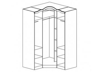 Угловой шкаф Орхидея СП-002-18 (ольха+патина)