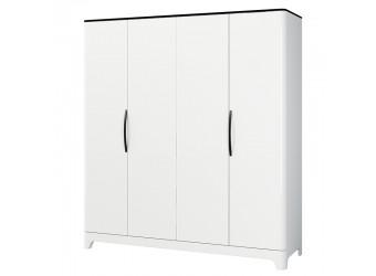 Четырехстворчатый распашной шкаф для одежды и белья с полками Верона МН-024-04