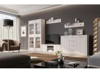 Гостиная Элана от МебельГрад, комплектация 2, цвет Бодега белая