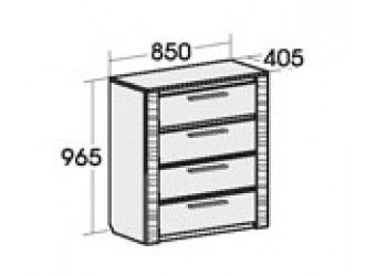 Комод для спальни Элана 850