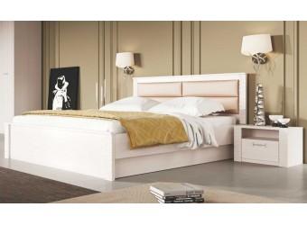 Двуспальная кровать Элана, цвет Бодега белая