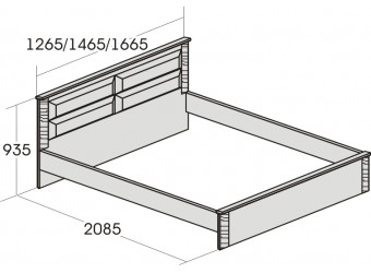 Двуспальная кровать Элана