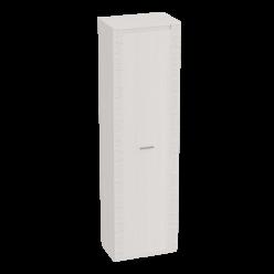 Одностворчатый шкаф с полками для гостиной Элана, цвет Бодега белая
