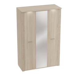 Трехстворчатый шкаф гардероб для спальни Элана, цвет Бодега белая